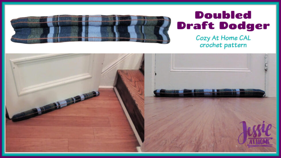 Doubled Draft Dodger crochet pattern by Jessie At Home - Social