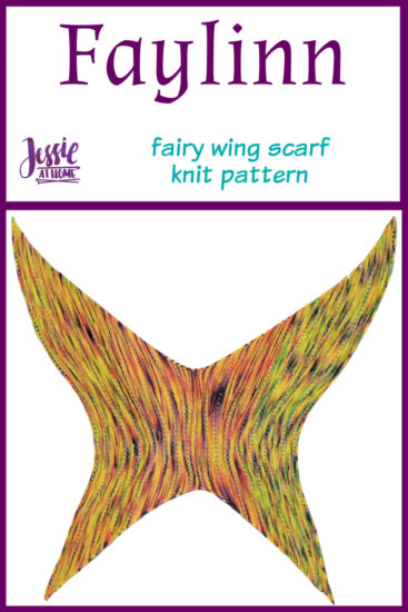 Faylinn - Fairy Wing Scarf Knit Pattern by Jessie At Home - Pin 1