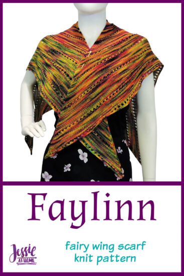 Faylinn - Fairy Wing Scarf Knit Pattern by Jessie At Home - Pin 2