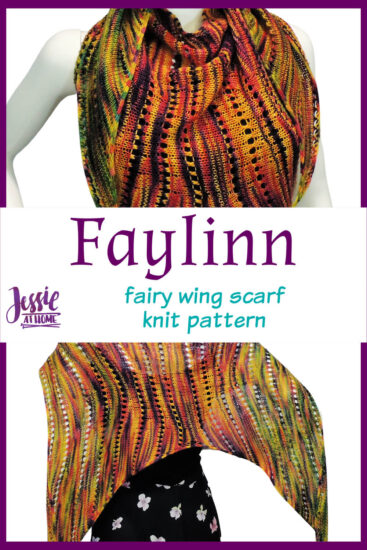 Faylinn - Fairy Wing Scarf Knit Pattern by Jessie At Home - Pin 3