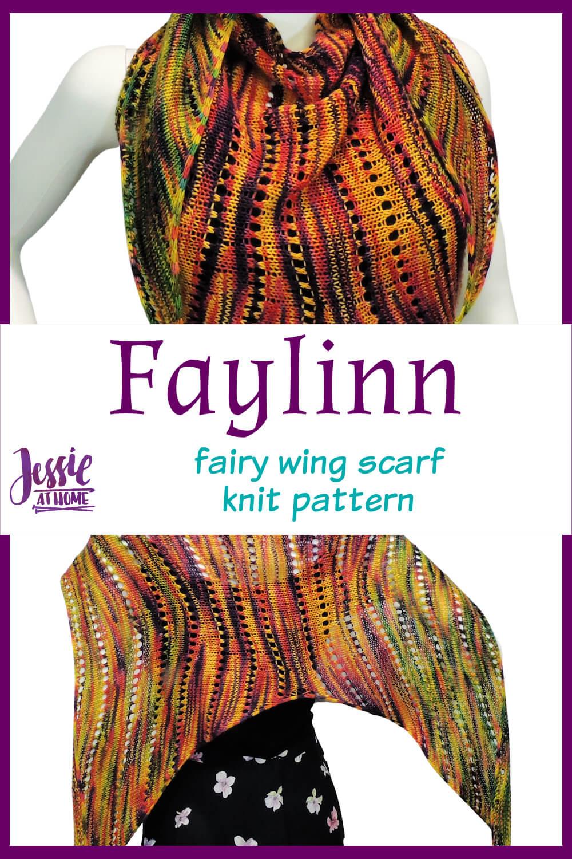 Faylinn: Fairy Wing Scarf Knit Pattern