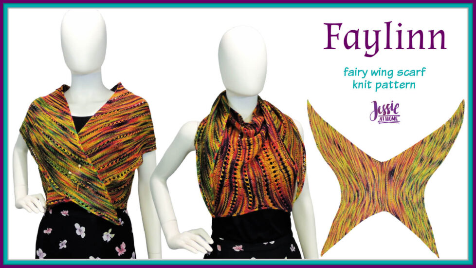 Faylinn - Fairy Wing Scarf Knit Pattern by Jessie At Home - Social