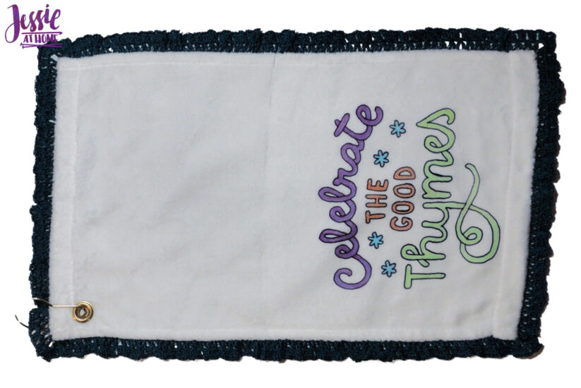 Finished Crochet Border on Towel
