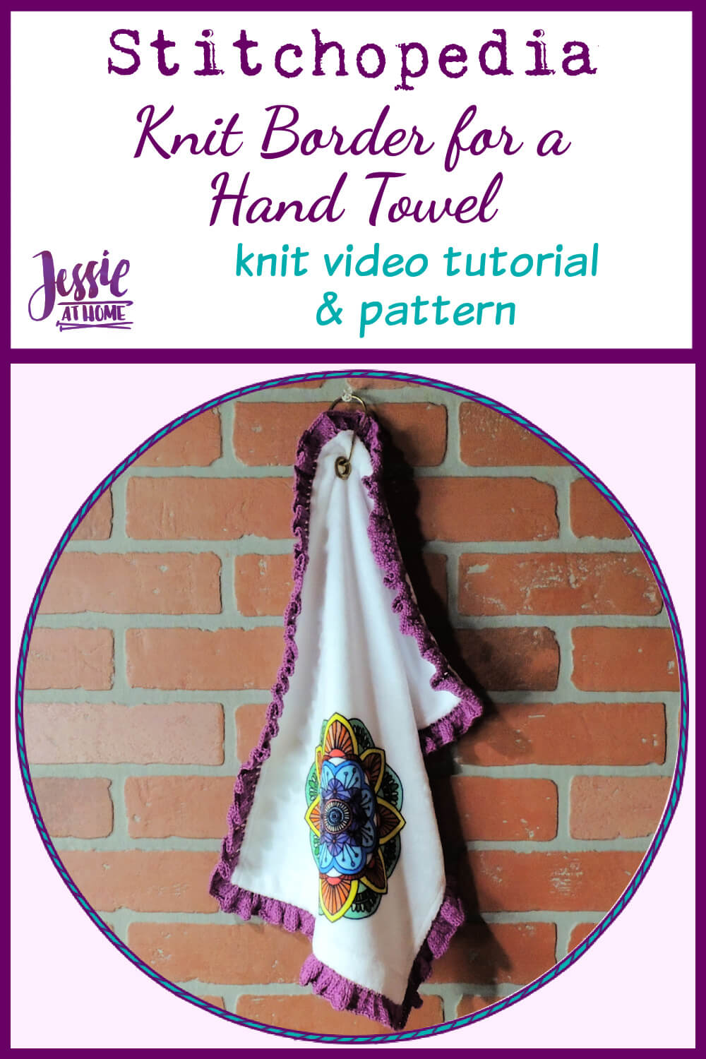Knit Hand Towel Border - Knit Pattern and Video Tutorial