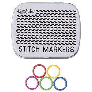 Knit Picks Enamel Stitch Markers & Tin