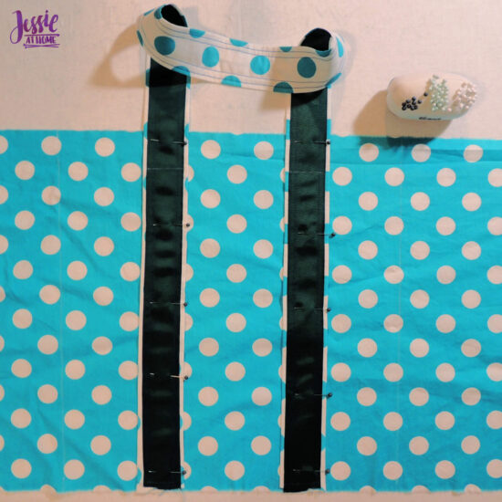 Pin Straps on Main Fabric