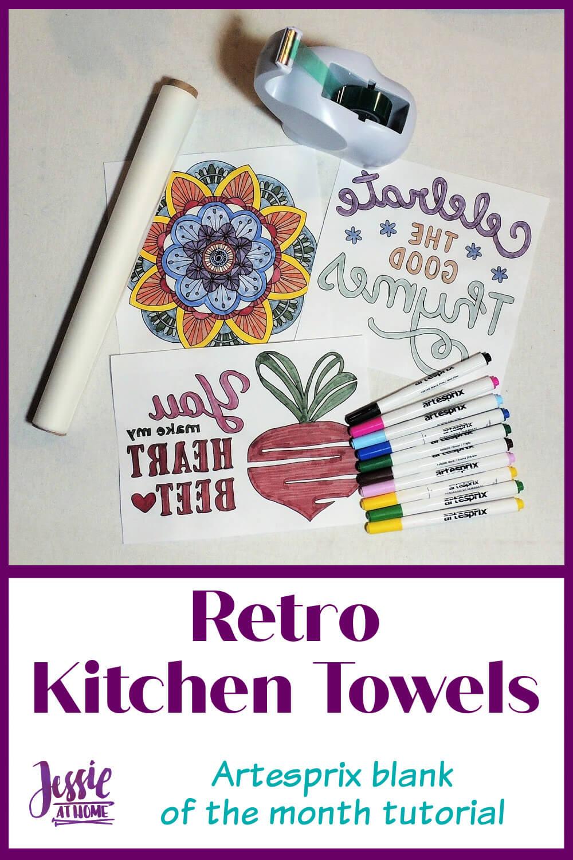 Retro Kitchen Towels - Artesprix Tutorial