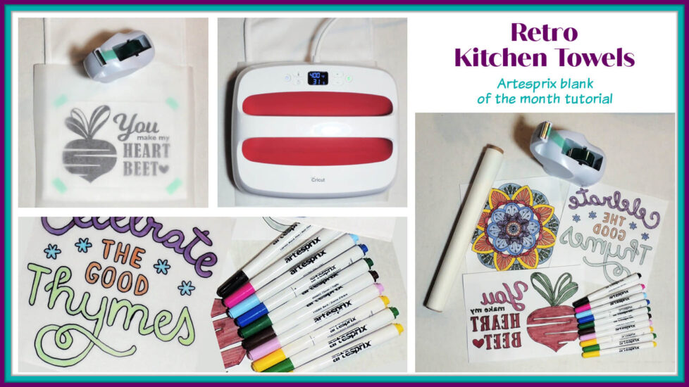 Retro Kitchen Towels - Artesprix Tutorial by Jessie At Home - Social