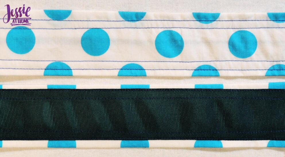 Sew Ribbon to Strap