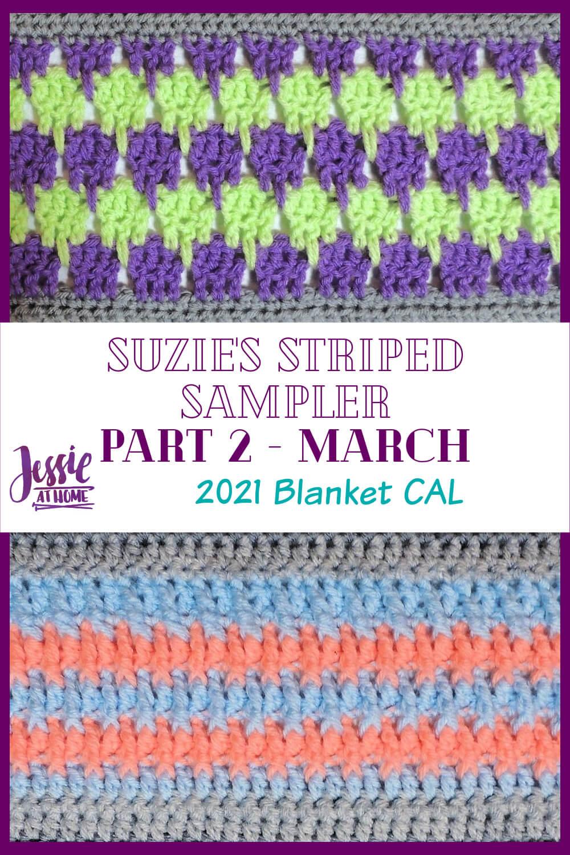 Suzie's Striped Sampler Part 2: Larks Foot & Alpine Stitch