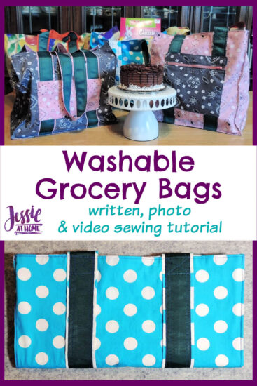 Washable Grocery Bags - written, photo & video tutorial by Jessie At Home - Pin 3