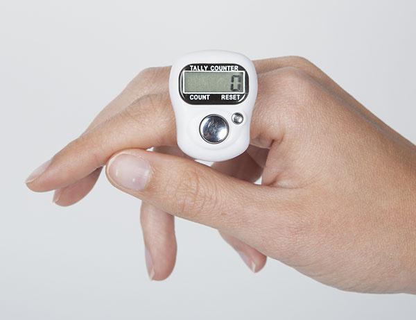 WeCrochet Finger Row Counter - White