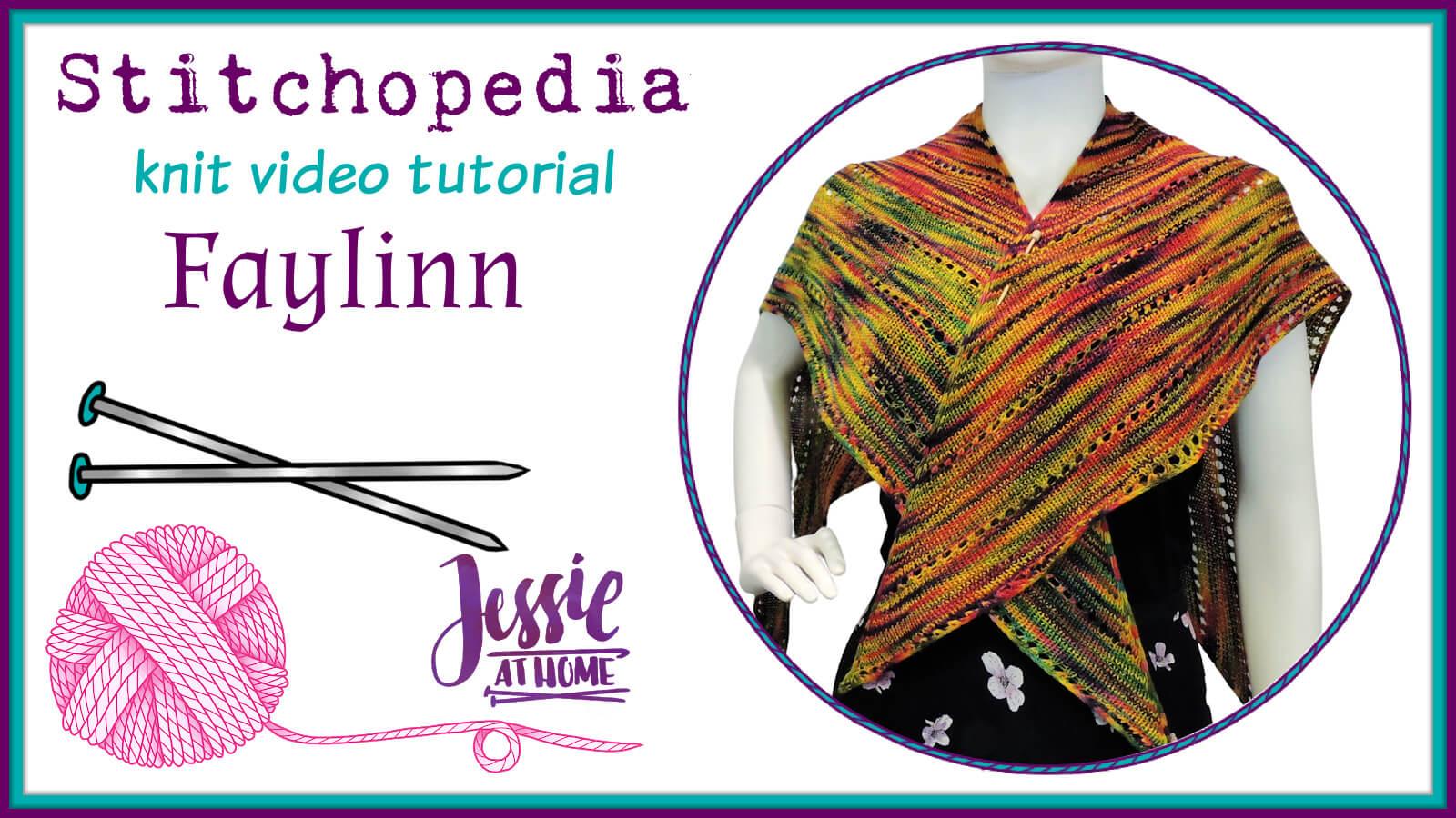 Faylinn Fairy Wing Scarf Stitchopedia Knit Pattern Video Tutorial - Cover