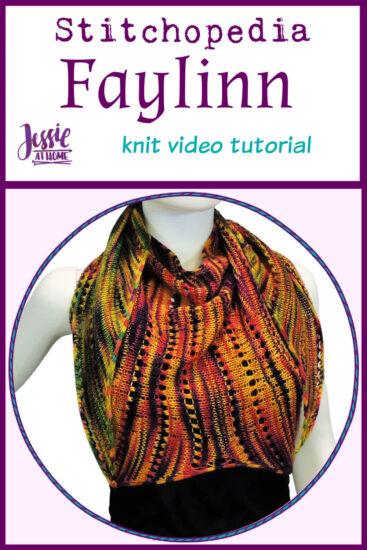 Faylinn Fairy Wing Scarf Stitchopedia Knit Pattern Video Tutorial - Pin 1
