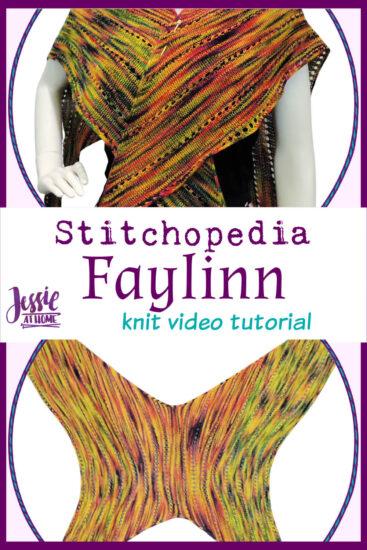 Faylinn Fairy Wing Scarf Stitchopedia Knit Pattern Video Tutorial - Pin 3