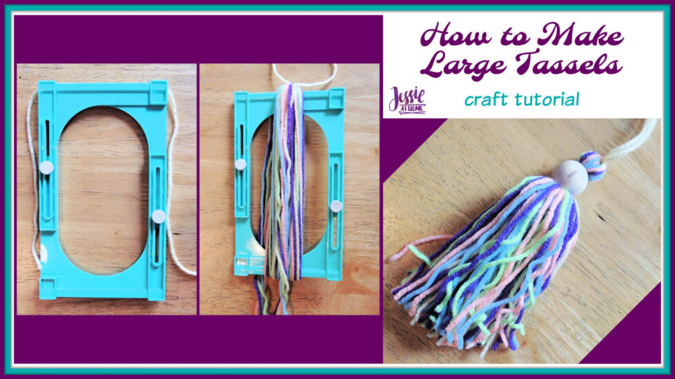 How to Make Large Tassels - craft tutorial by Jessie At Home - Social