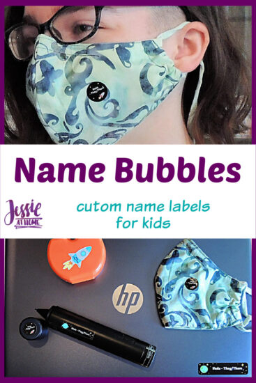 Name Bubbles custom name labels for kids - Jessie At Home - Pin 3