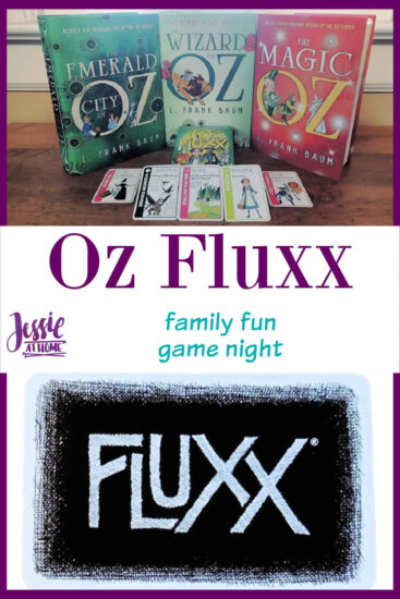 Oz Fluxx - family game night fun - Jessie At Home - Pin 3