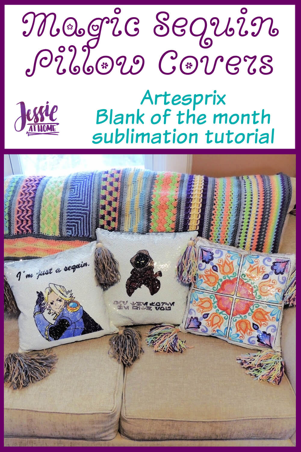 Sublimation Magic Sequin Pillow Covers - Artesprix Blank of the Month