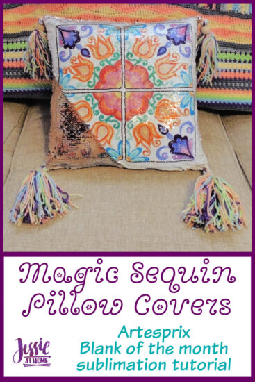 Sublimation Magic Sequin Pillow Covers by Jessie At Home - Pin 2