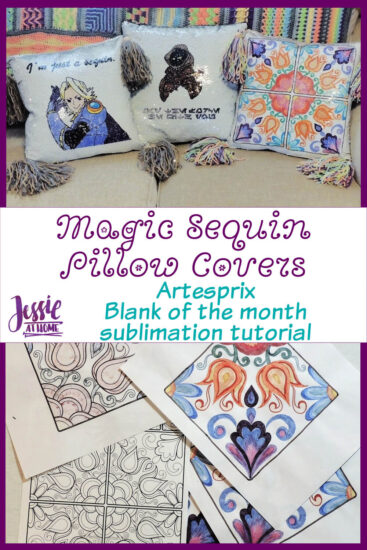 Sublimation Magic Sequin Pillow Covers by Jessie At Home - Pin 3