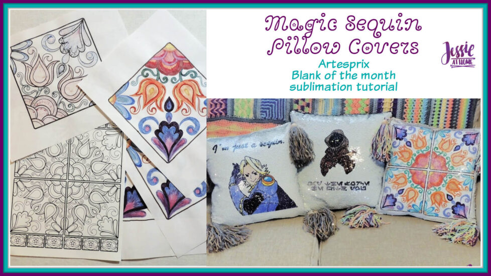 Sublimation Magic Sequin Pillow Covers by Jessie At Home - Social