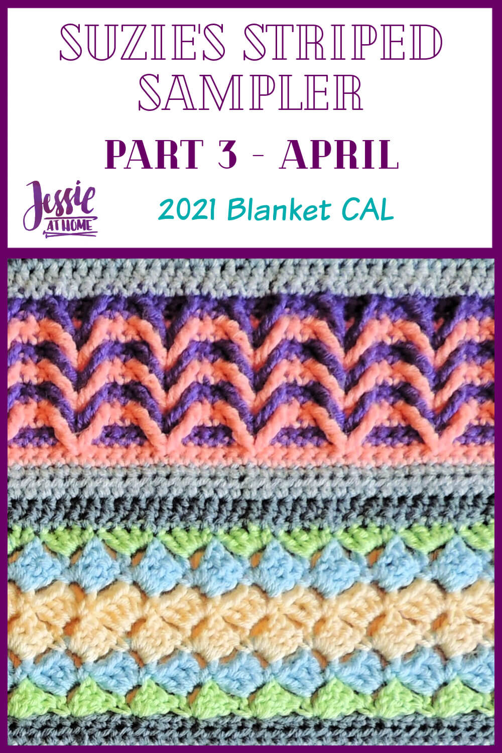 Suzie's Striped Sampler Part 3 by Jessie At Home - Pin 1