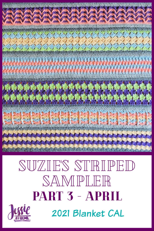 Suzie's Striped Sampler Part 3: Box Stitch & Stacked Vs