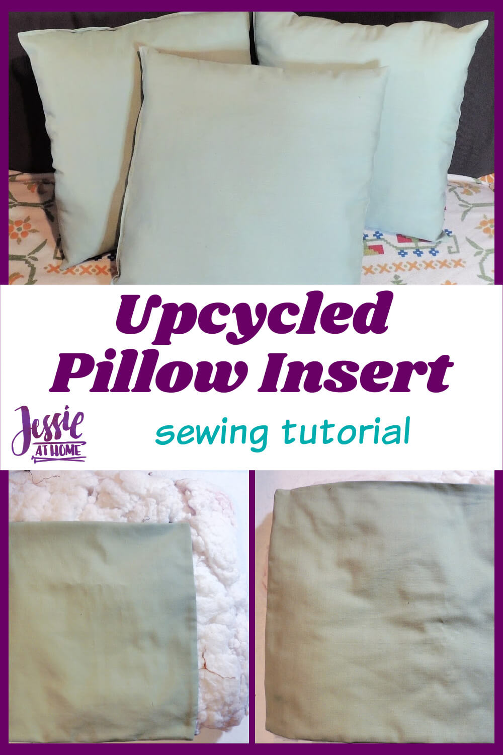 Upcycled Pillow Insert Made Out of an Old Throw Pillow