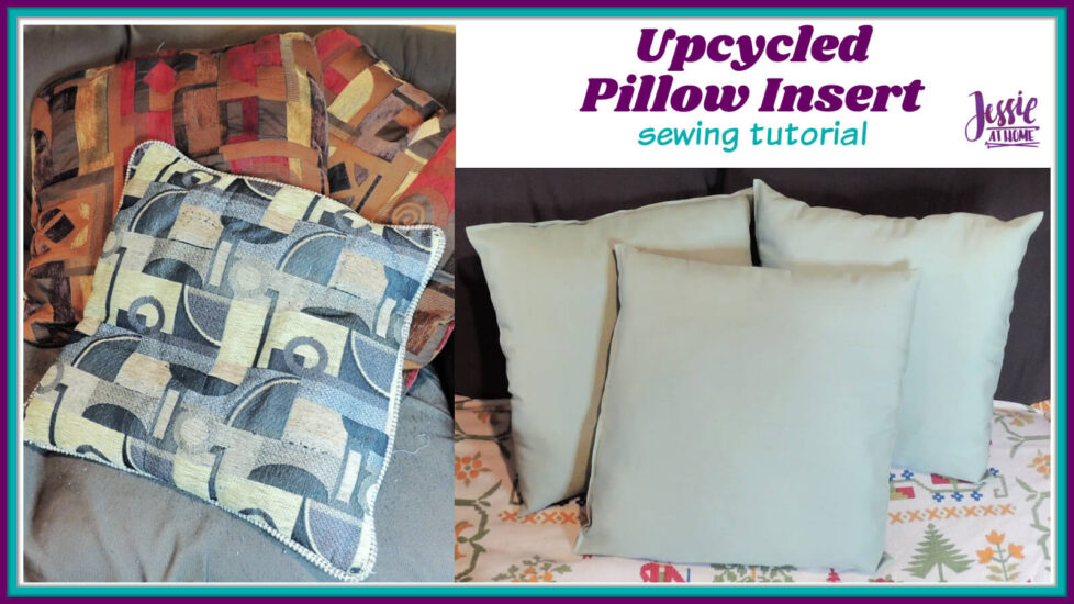 Upcycled Pillow Insert sewing tutorial by Jessie At Home - Social