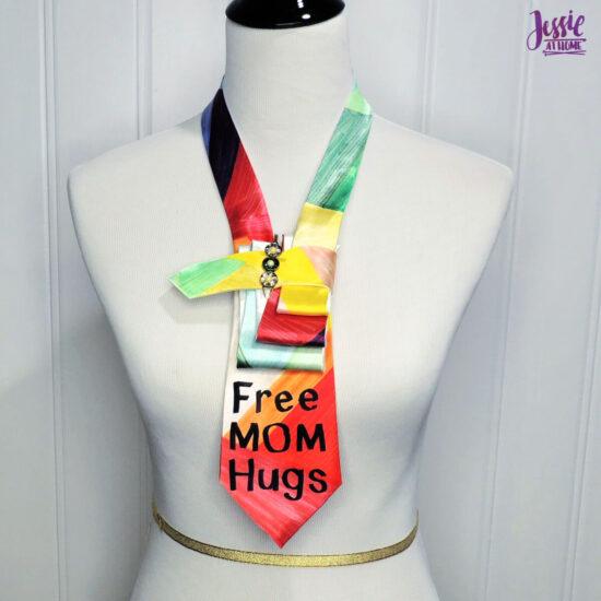 Free Mom Hugs Tie Wrapped Fan Fold