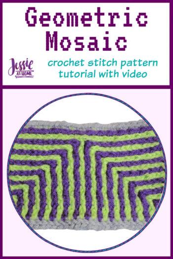 Geometric Mosaic – crochet stitch pattern tutorial - pin 1