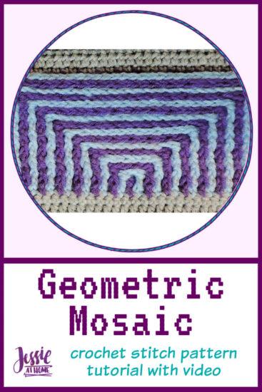 Geometric Mosaic – crochet stitch pattern tutorial - pin 2