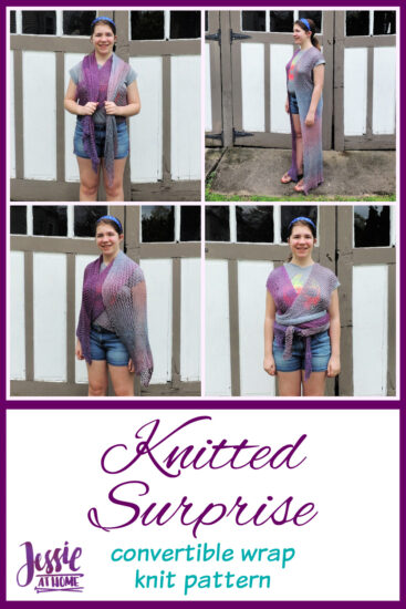 Knitted Surprise - convertible wrap knit pattern by Jessie At Home - Pin 2