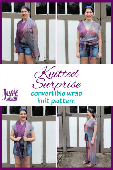 Knitted Surprise - convertible wrap knit pattern by Jessie At Home - Pin 3