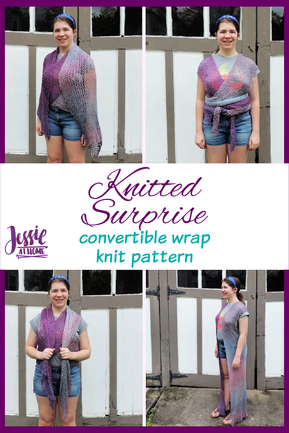 Knitted Surprise - convertible wrap knit pattern