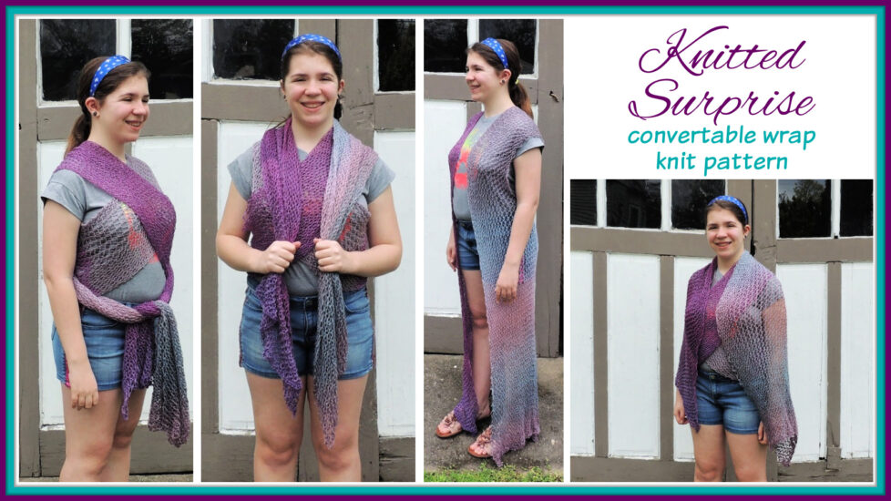 Knitted Surprise - convertible wrap knit pattern by Jessie At Home - Social