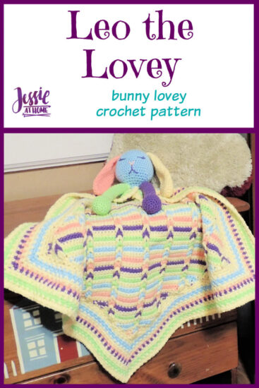 Leo the Lovey bunny lovey crochet pattern by Jessie At Home - Pin 1