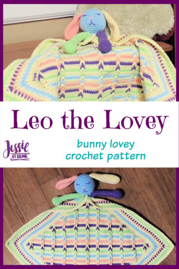 Leo the Lovey bunny lovey crochet pattern by Jessie At Home - Pin 3