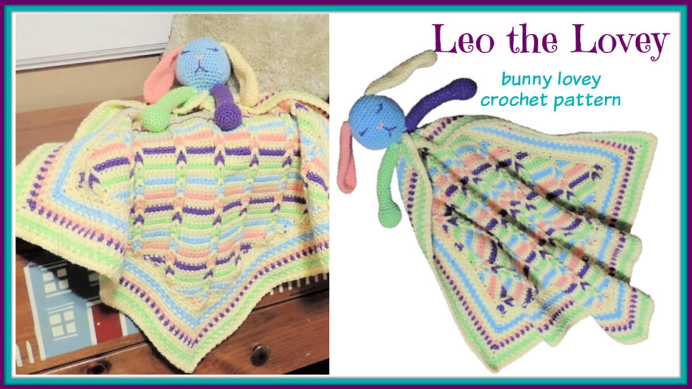 Leo the Lovey bunny lovey crochet pattern by Jessie At Home - Social
