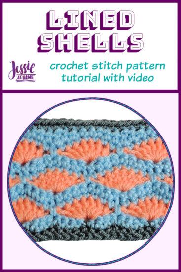 Lined Shells – crochet stitch pattern tutorial - pin 1