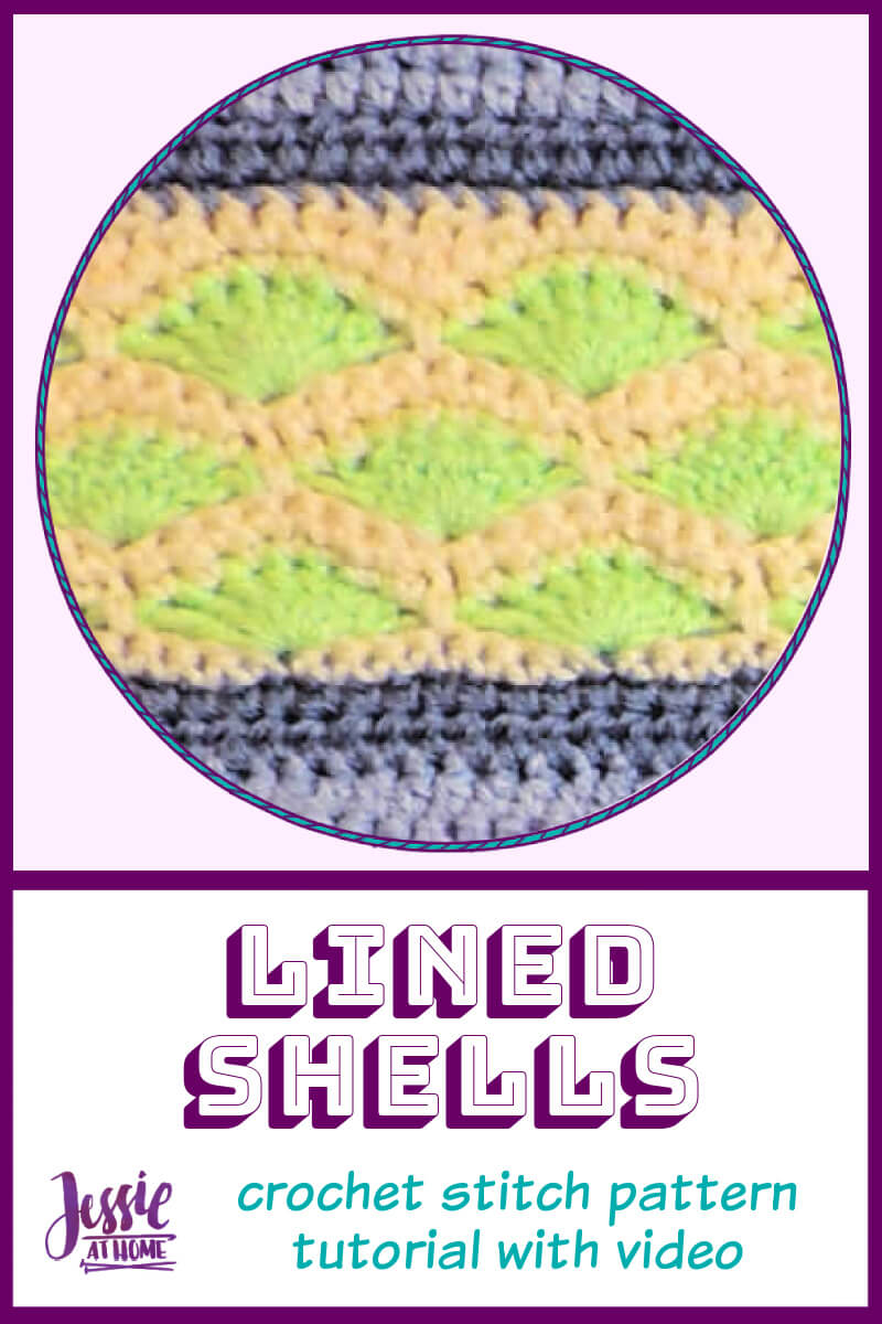 Lined Shells – free crochet stitch pattern tutorial with video