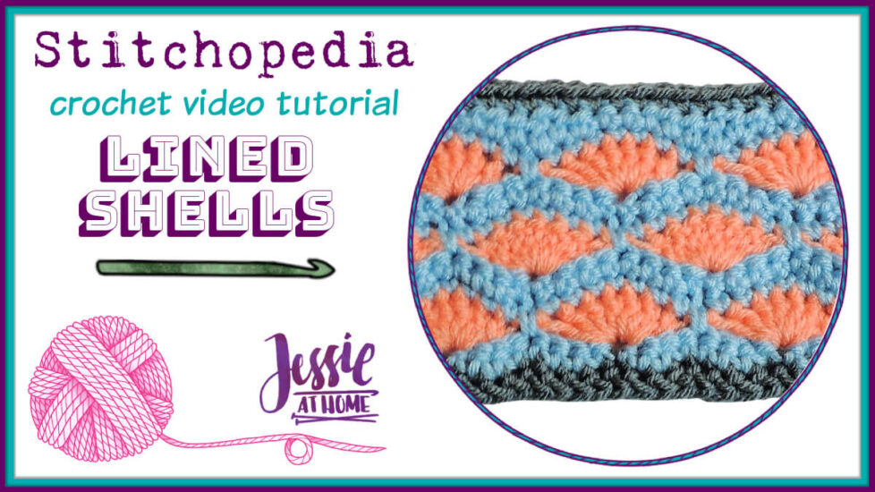 Lined Shells – crochet stitch pattern video tutorial - cover