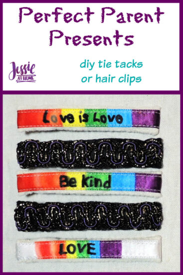 Perfect Parent Presents - DIY Tie Tacks or Hair Clips by Jessie At Home - Pin 1
