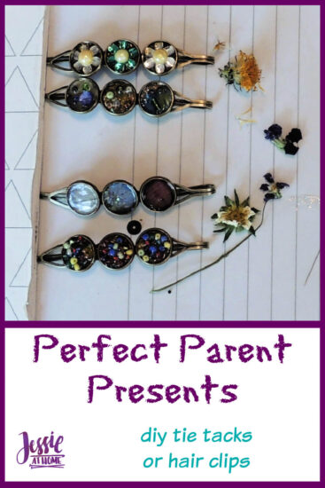 Perfect Parent Presents - DIY Tie Tacks or Hair Clips by Jessie At Home - Pin 2