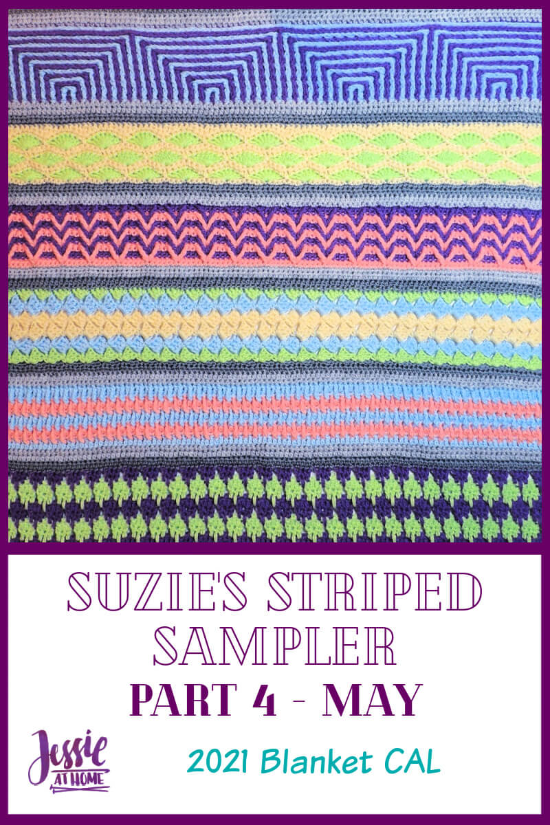Suzie's Striped Sampler CAL Part 4: Lined Shells & Geometry
