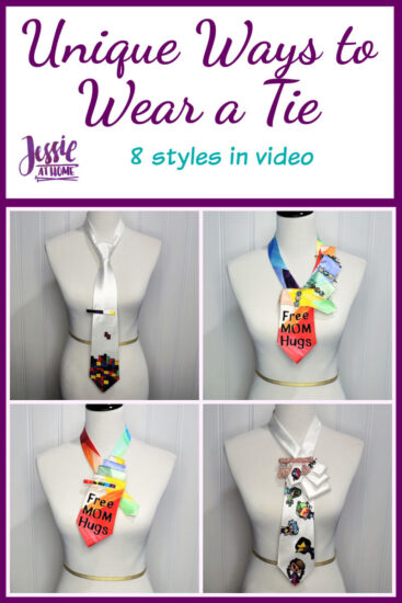 Unique Ways to Wear a Tie by Jessie At Home - Pin 1