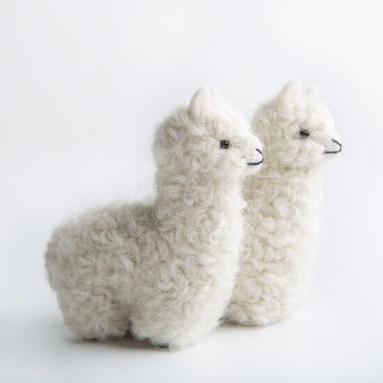 WeCrochet Tiny Stuffed Alpaca - White