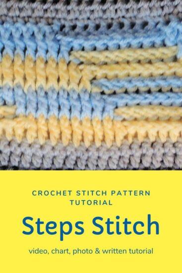 Steps Stitch Pattern - Stitchopedia Crochet Video Tutorial by Jessie At Home - Pin - 1