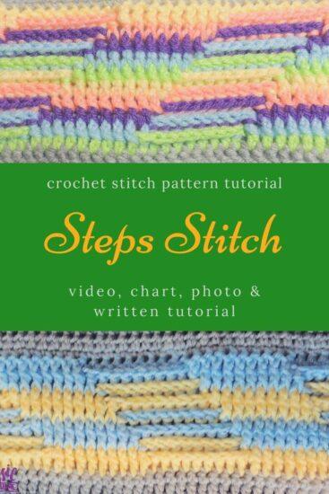Steps Stitch Pattern - Stitchopedia Crochet Video Tutorial by Jessie At Home - Pin - 3